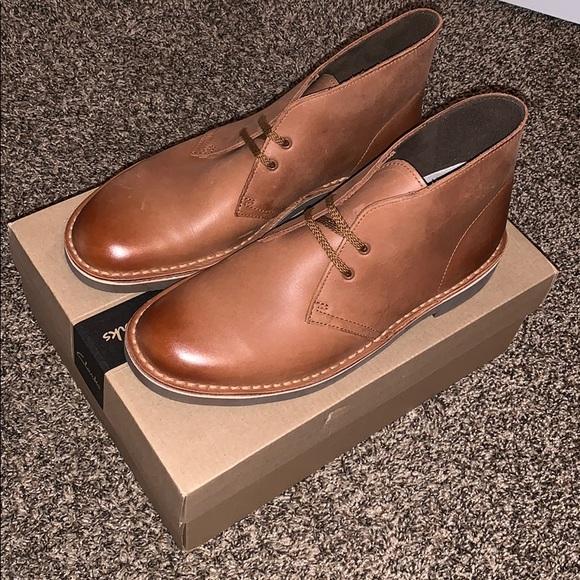 062674fb051 New Clarks Bushacre 2, Dark Tan Leather, Size 8.5 NWT